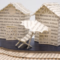Bathing boxes - Book art - Book sculpture - Altered books