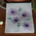 Watercolour Ruled Notepad - Mauve Flowers