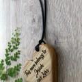 Personalised custom engraved wooden heart pendant beautiful gift
