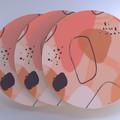 Coaster set, pink coaster set, pastel coasters, pack of coasters