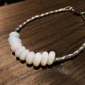 Handmade Glass and Sterling Silver Bracelet