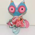 Handmade Owl Rag Doll/Girls Birthday present/Stuffed Toys/Custom made Dolls