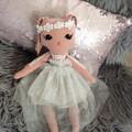 Handmade  bunny rag doll/heirloom rag doll/ keepsake cloth bunny doll