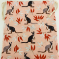 Wallaby Native Australian Animal Medium Drawstring Bag for Storage or Gift Bag