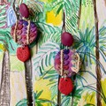 Polymer clay earrings - Statement earrings Native Grasses
