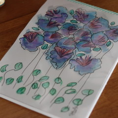 Watercolour Ruled Notepad - Bunches of Wild Blues