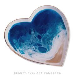 Custom order for Angela | Ceramic and Resin Trinket Tray