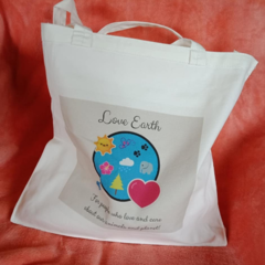 "Small ""Love Eath"" eco-friendly tote bag"