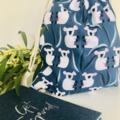 Koala Native Australian Animal Medium Drawstring Ba for Storage or Gift Bag