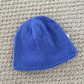 Blue  Newborn Baby Hat - Hand knitted in pure wool