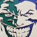Joker #1 - Super Villains - Handcut Wooden Hanging Artwork
