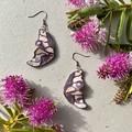 Polymer clay earrings - Statement earrings Butterflies