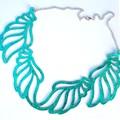 Metallic Turquoise, Genuine Leather, Necklace