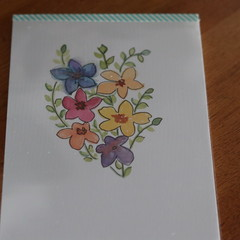 Watercolour Ruled Notepad - Flowers in a Bunch