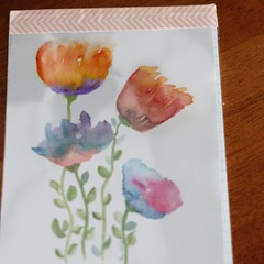 Watercolour Ruled Notepad - 4 Flowers