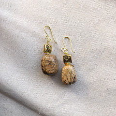 Golden Granito Earrings