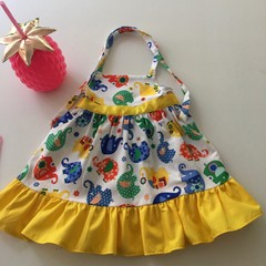 "Size 1 - ""Elephant Romp Dress"" to fit 12 to 18 months"