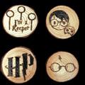 Wood Burnt Fridge Magnets