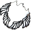 Bronze Suede Leather Ornate Necklace