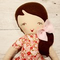 Abigail - Handmade rag doll, ready to ship