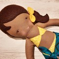 Nikki - Handmade beach doll, ready to ship