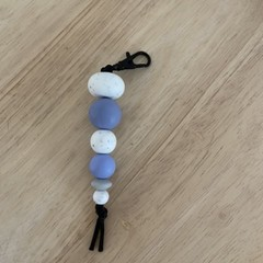 Rainy day silicone bead keyring