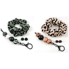 Leopard print lanyard gift set