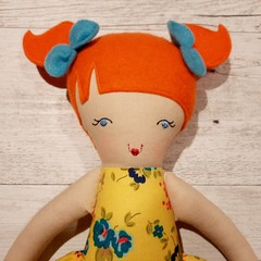 Indie - Handmade rag doll, ready to ship