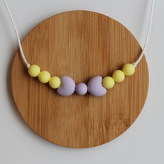 BOW – SILICONE CHEWABLE NECKLACE - LILAC & LEMON