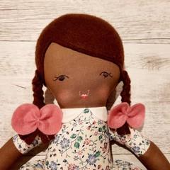 Alexa- Handmade rag doll, ready to ship