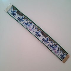 White horse webbing bookmark