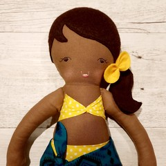 Nikki - Handmade beach doll, ready to ship