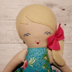 Isabella - Handmade rag doll, ready to ship