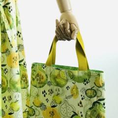 Reversible Lemon lime color Fruit tote bag