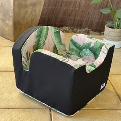 Small Booster Seat - Blush Palms