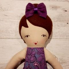 Riley - Handmade rag doll, ready to ship