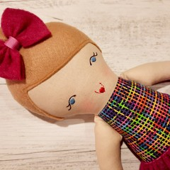 Tiffany - Handmade rag doll, ready to ship