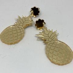 Golden pineapple earrings