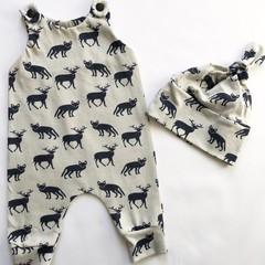 Newborn Fox & Fallow Romper & Beanie set