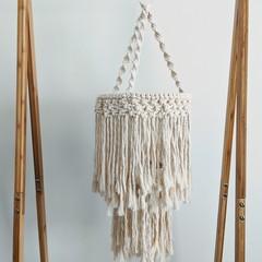 Macrame chandelier, room decor, light fitting, nursery decor