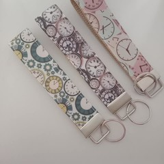 Watch print key fob wristlets