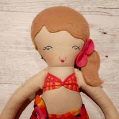 Taylor - Handmade beach doll, ready to ship