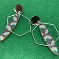 Rainbow print earrings