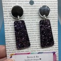 Light purple glitter  earrings
