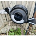 Retro Revival Tyre swan art MAGPIE Bird Feeder Hanging Basket Planter Statue