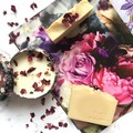 Pamper Bundle - Choose your 1 Artisan Soap with Rose Candle