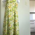 Lemon Lime color Fruit pattern cotton dress Size XS-S (6-8)