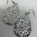 Silver shimmer earrings