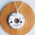 Donut Silicone Chewable Necklace (Pink, Blue or Mint)