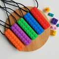 LEGO BLOCK SILICONE CHEWABLE NECKLACE